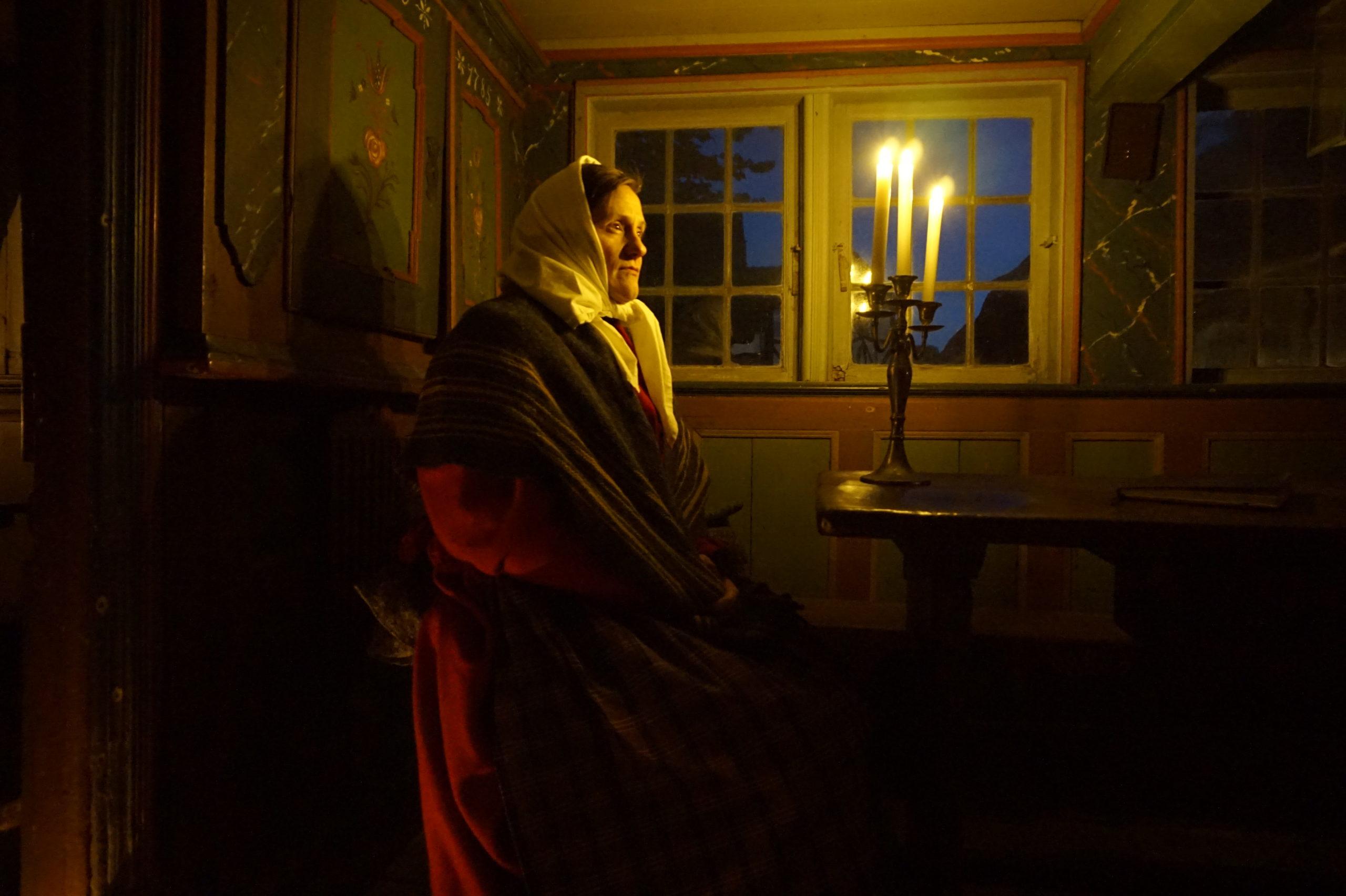 Sagn i mørket på Glud Museum